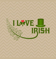 Greeting for saint patricks day celebration vector
