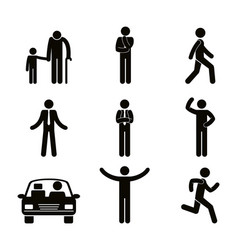 Group of people doing different activities vector