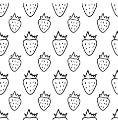 Hand Drawn Strawberries Pattern vector