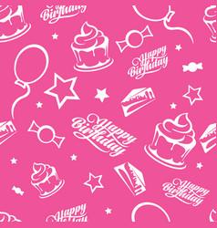 Happy birthday seamless pattern vector