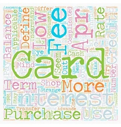 How To Shop For A Low Apr Credit Card text vector image