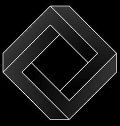 Impossible square icon vector