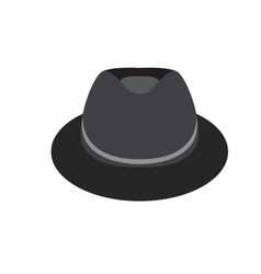 isolated fashion hat vector image