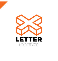 isometric letter x logo icon design template vector image