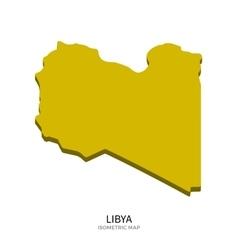Isometric map libya detailed vector