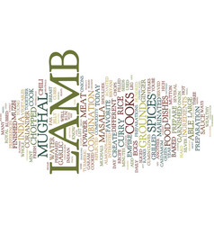 Lamb from muzbi to modern text background word vector