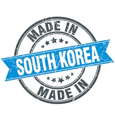 made in South Korea blue round vintage stamp vector image