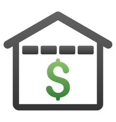 Market Building Gradient Icon vector