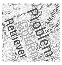 Medical Problems Of Golden Retrievers Word Cloud vector image