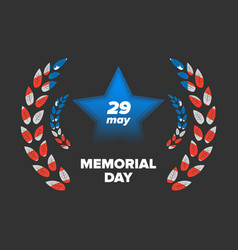 Memorial day 29 may vector