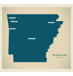 Modern Map USA Arkansas vector