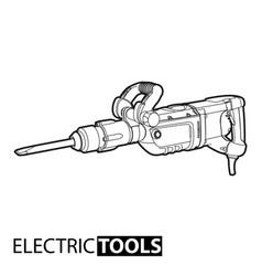 outline jackhammer vector image