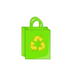 Package recycling icon cartoon style vector image