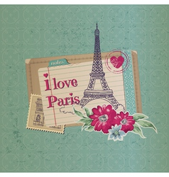 Paris vintage card vector