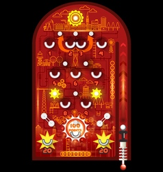 pinball playfield vector image