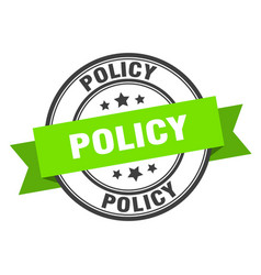 Policy label policy green band sign policy vector