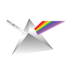 prism reflecting light on white background vector image