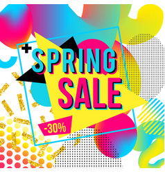promotional design poster with text spring sale on vector image