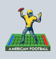 Quarterback poster vector