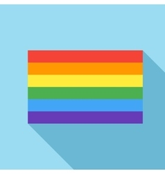 Rainbow flag icon in flat style vector