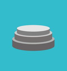 Round pedestal isolated stand for awards scene on vector