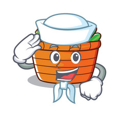 Sailor fruit basket character cartoon vector