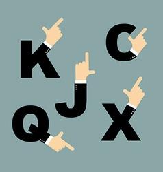 Set business logos hands Hand in costume Hands vector image