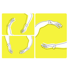 Set of various hands movements vector