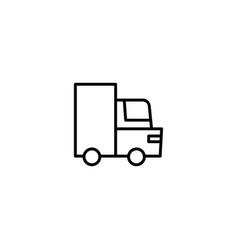 shipping truck icon vector image
