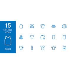 shirt icons vector image