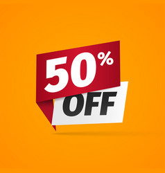 sticker with fifty percent discount 50 percentage vector image