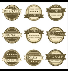 stickers sales vector image