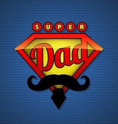 Super dad shield in pop art style vector image