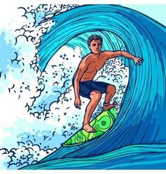 Surfer Man Background vector