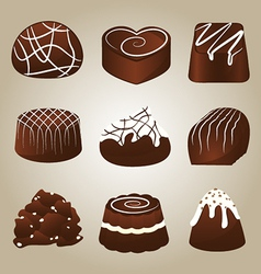 Sweet collection chocolate truffles vector