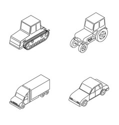 Tractor caterpillar tractor truck car vector