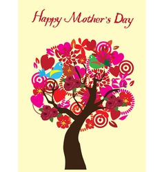 Tree mom day vector