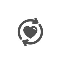 Update relationships simple icon love symbol vector