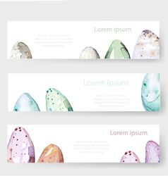 Watercolor Easter holiday cards tags banners set vector image
