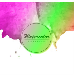 watercolor template for your text vector image