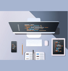 Web site design development program code vector