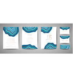 wedding cards marble template covers design vector image