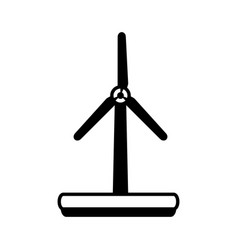 Wind turbines in forest icon image vector