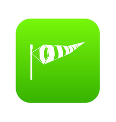 Windsock icon digital green vector