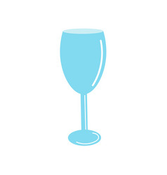 Wine glass hand drawn element for menu design vector
