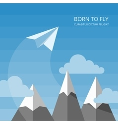 background with paper airplanes vector image vector image