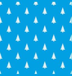 christmas tree pattern seamless blue vector image