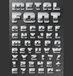 metal font 3d on a transparent background vector image