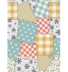Seamless background pattern from scraps of fabric vector image vector image