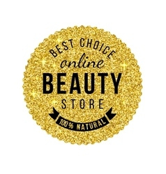 beauty store emblem with type design vector image